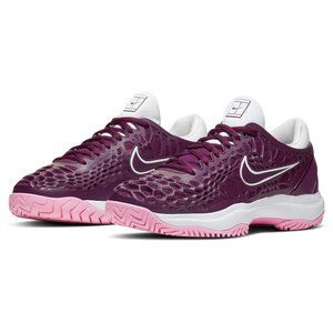 NIKE Zoom Cage 3 Bordeaux White Tennis Shoes NEW